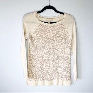 Banana Republic Factory Leopard Merino Wool